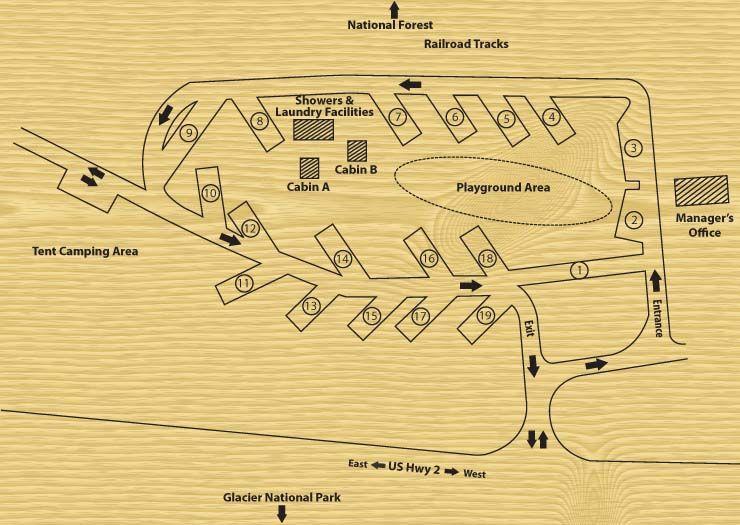 Park Map of Sam's Family Spa in Desert Hot Springs, CA